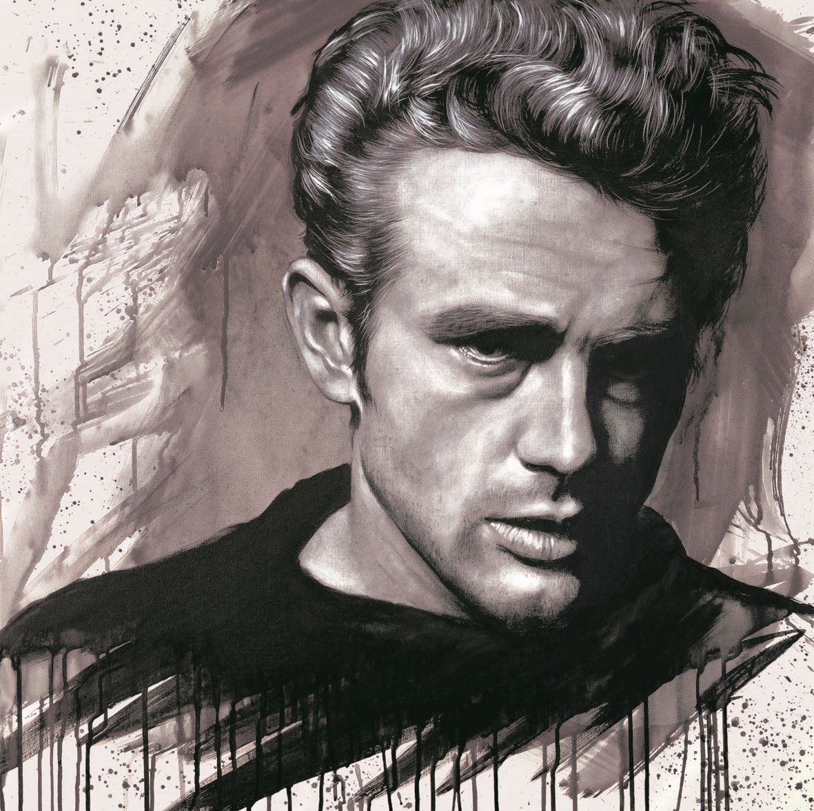 James Dean by Jen Allen -  sized 14x14 inches. Available from Whitewall Galleries